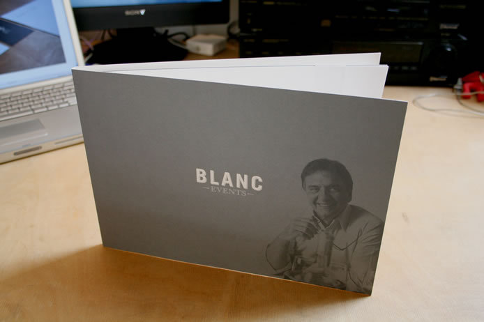 Blanc Events wedding brochure