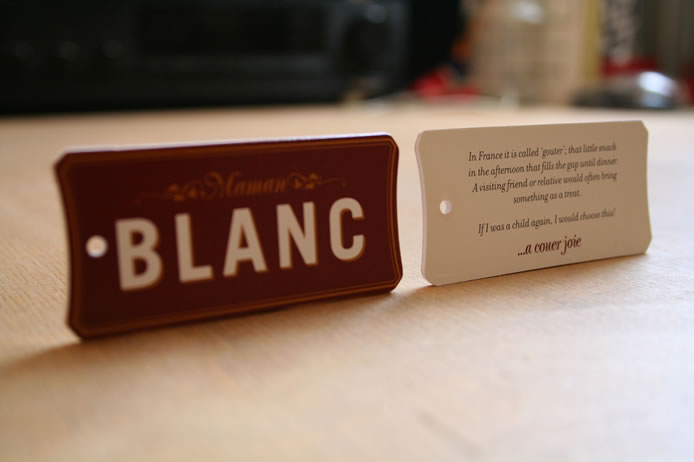 Brasserie Blanc product tag