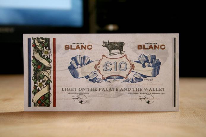 Brasserie Blanc voucher £10