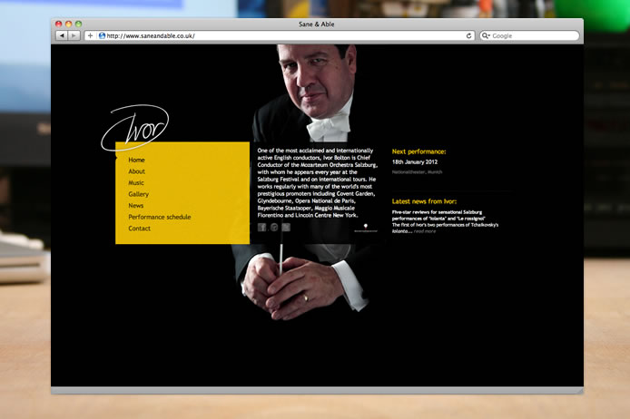 Ivor Bolton conductor website