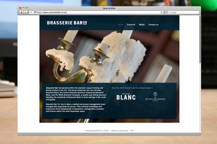 Brasserie Barco website