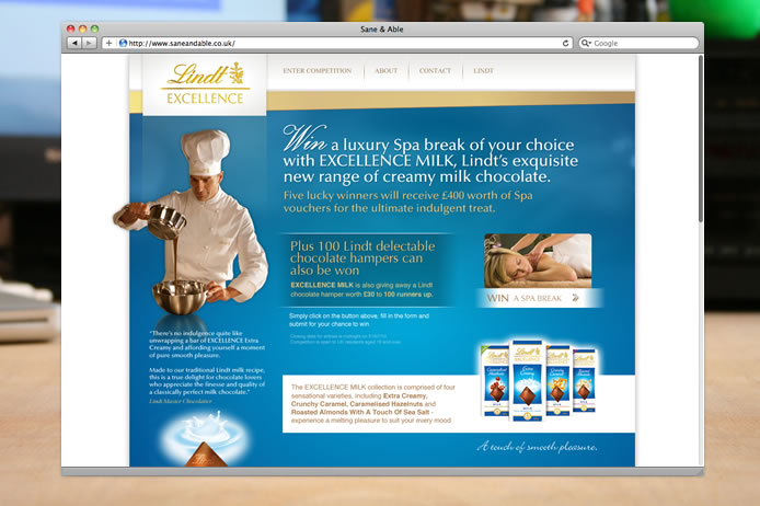 Lindt Excellence website