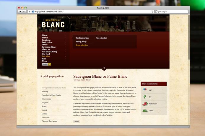 Brasserie Blanc wines