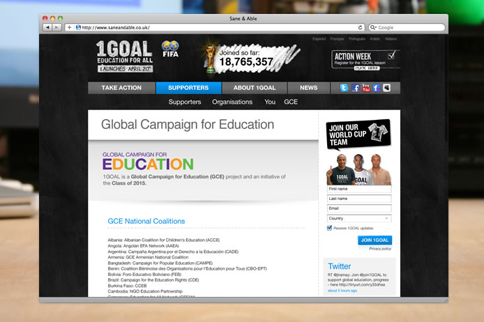1GOAL global campaign for education