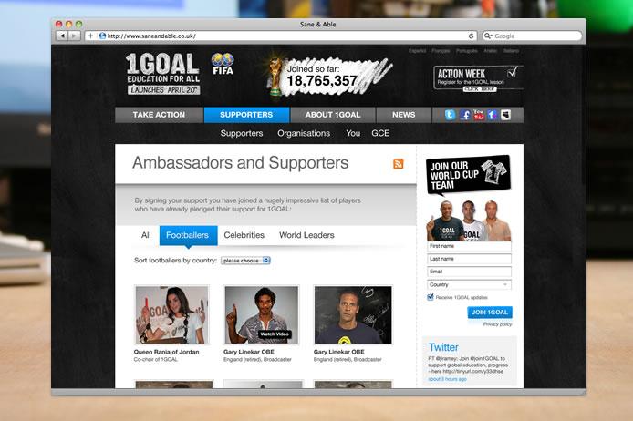 1GOAL website ambassadors