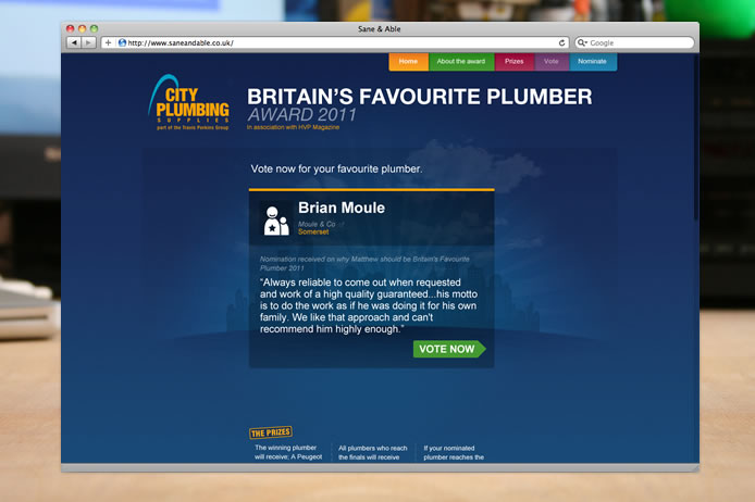 City Plumbing award 2011 vote