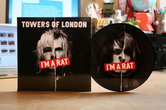 Towers of London printed vinyl