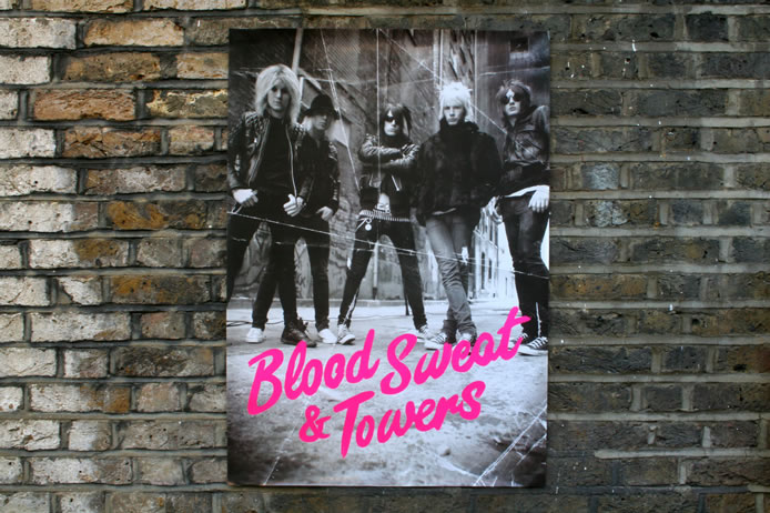 Towers of London fluorescent poster