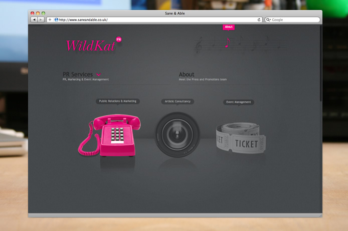 WildKat PR website icons