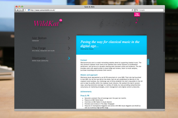 WildKat PR website