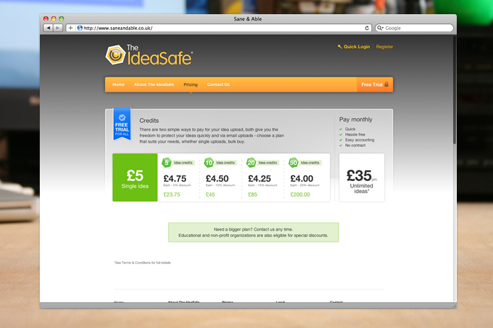 the-ideasafe-website-price